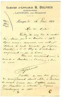 47 47  LAVERGNE PRES MIRAMONT  CABINET D AFFAIRES GEOMETRE  -  A DELPECH  1893 - France