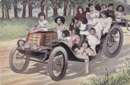 Baby, Bébé, Humour, Fantasy, Fantasie, Babies In A Classic Car (pk42616) - Tarjetas Humorísticas
