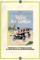 BELGIQUE  Carte Postale Homme Léopard De La Secte Des Aniotas Collection TINTIN Au CONGO KUIFJE HERGE + Documents Divers - Bandes Dessinées
