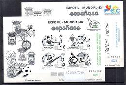 Pruebas De Lujo De España Nº Edifil 4/5 Con Sobre Carga De Feria Torremolinos 2015 Mismo Número - 1951-60 Unused Stamps