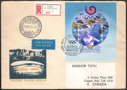 HUN SC #3127 SS 1988 Summer Olympics / Seoul, 1988 REG'D FDC 04-20-1988 - FDC