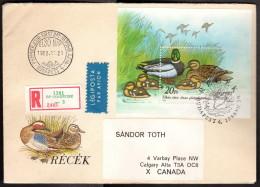 HUN SC #3141 SS 1988 Ducks REG'D FDC 07-29-1988 - FDC