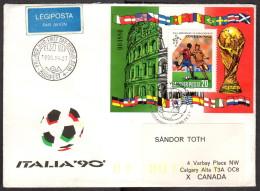 HUN SC #3247 SS 1990 World Cup Soccer Championships FDC 04-27-1990 - FDC