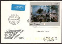HUN SC #B341 SS 1989 S-P  / Battle Of Solferino, FDC 09-08-1989 - FDC