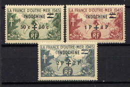 INDOCHINE - 296/298(*) - FRANCE D'OUTRE-MER - Nuevos