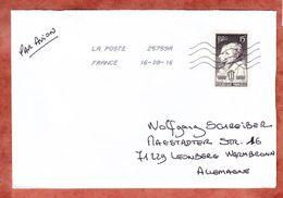 Brief, EF, St Maurice Nach Leonberg 2016 (46002) - Poststempel (Briefe)