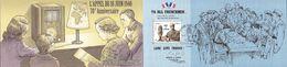 France Oblitération Cachet à Date BF N° F 4493 B - Anniversaire De L'appel Du 18 Juin De Charles De Gaulle - Sheetlets