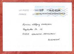 Brief, EF Label, Nach Leonberg 2014 (46003) - France