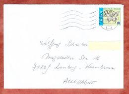 Brief, EF Schmetterling, Bruessel Nach Leonberg 2015 (46008) - Cartas
