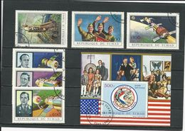 TCHAD  Scott C101, C102-C107 Yvert BF8, PA105-PA110 (3+bloc) O Cote 4,25$ 1972 - Tchad (1960-...)