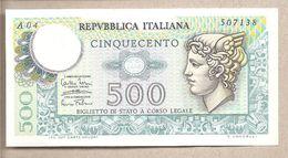 """Italia - Banconota Circolata Da 500£ """"Mercurio"""" P-94a.1 SUP - 1974 - 500 Lire"""
