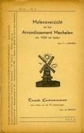 """Thema: Molen/moulin - Boekje: 'Molenoverzicht Uit Het Arrondissement Mechelen Van 1830 Tot Heden"""" (1962/1963) Zeldzaam! - Histoire"""