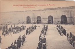 23 POSTAL DE FIGUERAS DEL CASTILLO PENAL - FORMACION DE PENADOS (L. ROISIN) PRESOS - Gerona
