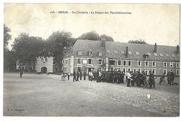 ARRAS LA CITADELLE LE DEPART DES PERMISSIONNAIRES CPA 2 SCANS - Arras