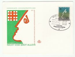 1973 Germany PROTESTANT CHURCH DAY EVENT COVER Card Religion Christianity Stamps Dusseldorf - Christianity