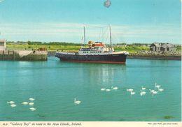 CPA-1975-IRLANDE-FERRY-GALWAY BAY-en Route Vers ILES ARAN-TBE - Ferries