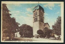 38 MONESTIER- DU- PERCY ( ISERE ).ANIMEE...PLACE DE L' EGLISE..TIMBRES..C2511 - France