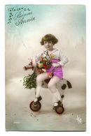 CPA - Carte Postale - Belgique - Fantaisie - Enfant - Fille - Cheval En Bois - Bonne Année - 1922  (F52) - Bébés