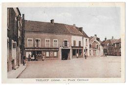 TRELOUP - Place Centrale (façade Le Familistère) - Colorisée - Francia