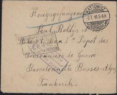 Guerre 14 Prisonnier Allemand Dépôt PG Barcelonnette Basses Alpes FM CAD Kattowitz Oberschl Censure - Guerre De 1914-18