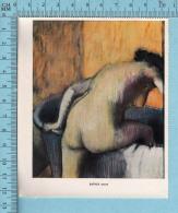 Miniature -Femme Nue , Art  - Bather , Degas -  Sur Papier Couché - Vieux Papiers
