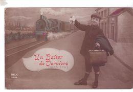 VERVIERS Un Baiser Train Gare Rex Letter British Soldier Stamp Censor - Verviers