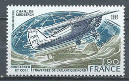 France Poste Aérienne YT N°50 Traversée De L'Atlantique Par Charles Lindbergh Neuf ** - 1960-.... Mint/hinged