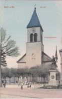 Bm - Cpa KEHL A. Rh. - Kirche, Kriegerdenkmal - Kehl