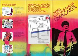 Portugal Depliant Publicitaire Circuit Postal Code Postal 1981 Publicitary Flyer Mail Speed Postal Code - Variétés Et Curiosités
