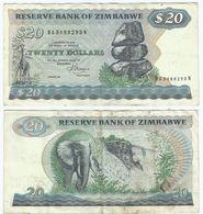 Zimbabwe 20 Dollars 1983 Pick 4.c Ref 1437 - Zimbabwe