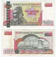 Zimbabwe 500 Dollars 2001 Pick 10 Ref 1440 - Zimbabwe