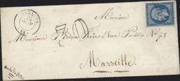 Taxe Tampon 30 Timbre Réutilisé Considéré Nul YT 14 A 20 Ct Bleu Empire Oullins Oblit PC Petit Chiffre - Marcophilie (Lettres)
