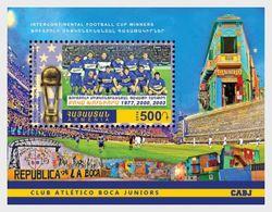 Armenia 2016 Sport - Intercontinental Football Cup Winners  Boca Juniors Miniature Sheet Mint ** - Clubs Mythiques