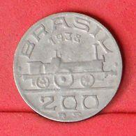 BRAZIL 200 REIS 1938 -    KM# 537 - (Nº20160) - Brésil