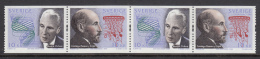Sweden 2003 MNH Scott #2460 Strip Of 2 Pairs 10k Spanish Nobel Prize Winners Joint With Spain - Emissions Communes