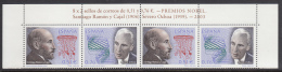 Spain 2003 MNH Scott #2304 Strip Of 2 Pairs Spanish Nobel Prize Winners Joint With Sweden - Emissions Communes