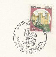 1987 ABRUZZESE SHEEP FARMING EVENT COVER Calascio Italy Card Stamps - Farm