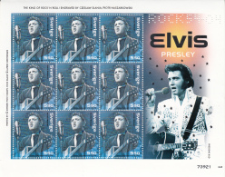 Sweden 2004 MNH Scott #2493i Sheet Of 9 #2493b Elvis Presley Slania Rock N Roll 50 Years - Nuevos
