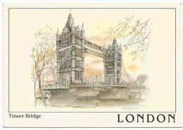 V1566 London - Tower Bridge - Illustrazione Illustration / Viaggiata 1998 - Altri
