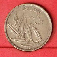 BELGIUM 20 FRANCS 1982 -    KM# 160 - (Nº20180) - 07. 20 Francs