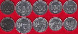 Indonesia Set Of 5 Coins: 100 - 1000 Rupiah 1999-2016 UNC - Indonesia