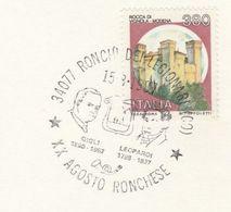 1987 Ronchi Di Legionari EVENT COVER   GIGLI Opera  LEOPARDI Philosopher Card Music Stamps Philosophy Italy - Music