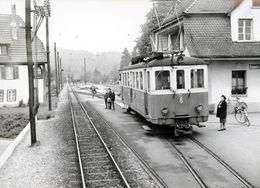 Suisse : Roggwil-Dorf. Compagnie OJB. Cliché Jacques Bazin. 23-10-1964 - Trenes