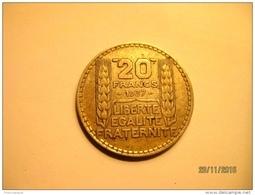 France: 20 Francs Turin 1937 - Francia