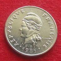 French Polynesia 10 Francs 1985 KM# 8 Polynesie Polinesia - Polynésie Française