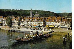 CPSM/gf (76)  CAUDEBEC-EN-CAUX.  La Seine, Le Bac Et Le Quai Guilbaud...B388 - Caudebec-en-Caux