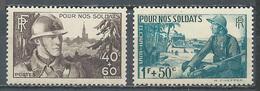 France YT N°451/452 Pour Nos Soldats Neuf ** - France