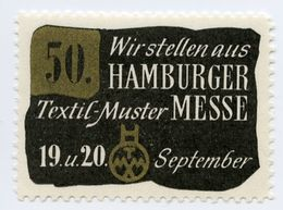 CINDERELLA : GERMANY - HAMBURG, TEXTIL-MUSTER MESSE - Cinderellas
