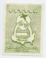 CINDERELLA : USA - NATIONAL COTTON WEEK, 1922 - Cinderellas
