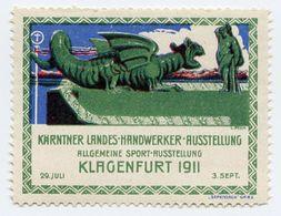 CINDERELLA : GERMANY - KLAGENFURT 1911, KARNTNER LANDES, HANDWERKER, AUSSTELLUNG - Cinderellas